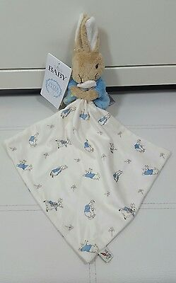 M&s Marks Spencer Blue Peter Flopsy Rabbit Baby Comforter Soft Toy Bnwt 09190559