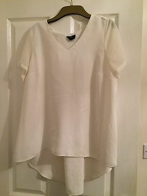 Topshop Maternity Off Cream Top Size 12