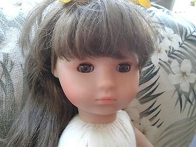 "VINTAGE~ GERMANY~ MAX ZAPF 20""~ COLLETTE ~ Long Brown Hair ~EUC"