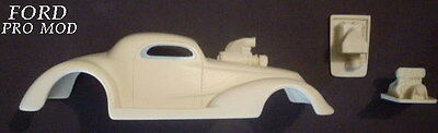 Ford 37 Pro Mod Slot Car  Plus Engine  Resin Body 1/24 1/25  Scale
