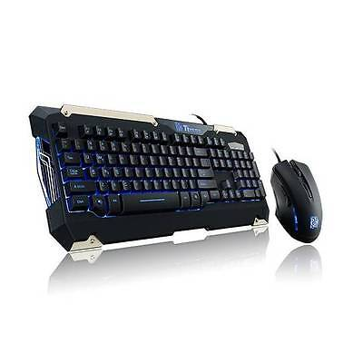 Thermaltake eSPORTS USB Wired Commander Gaming Keyb+Mouse Combo Black US Layout