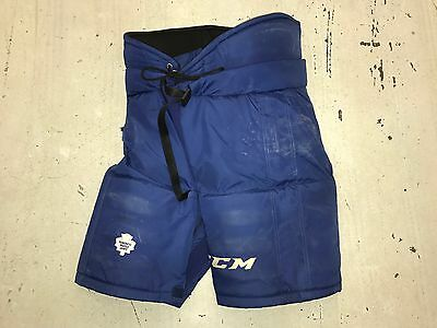 CCM Team Issued Toronto Maple Leafs NHL Pro Stock Hockey Player Pants Large L