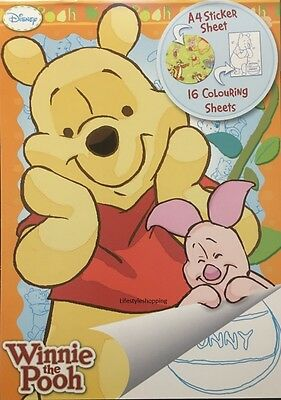 Winnie The Pooh Colouring & Sticker Book Boys Kids Activity Set Disney New