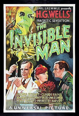 THE INVISIBLE MAN * CineMasterpieces S2 HORROR MOVIE POSTER LIMITED EDITION