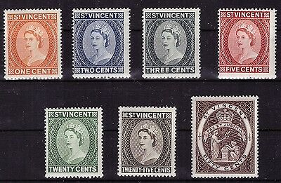 ST VINCENT. 1955. Queen. Incomplete Set. MNH**. Very Good Condition