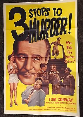 3 STOPS TO MURDER 1sh '53 Tom Conway, Mila Parely