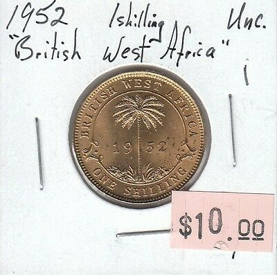 British West Africa Shilling 1952 UNC Uncirculated - i