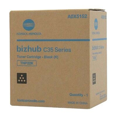 Genuine Konica Minolta C35 black toner cartridge TNP22K