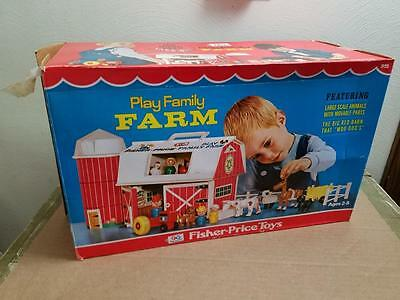 Vintage Fisher Price 915 Play Family Farm W/box 1968 1969 New Never Played With