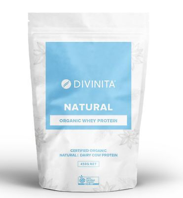 ORGANIC ORGANIC Natural flavoured Whey Protein Grass fed powder concentrate