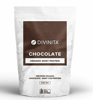 ORGANIC ORGANIC Chocolate Whey Protein grass fed powder concentrate