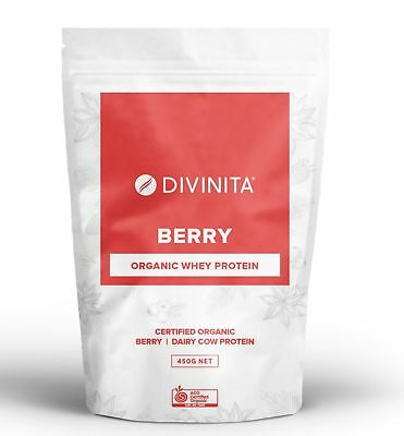 ORGANIC ORGANIC Berry Whey Protein grass fed powder concentrate