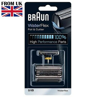 51B BRAUN Shaver Series 5 Replacement Foil & Cutter Set Head Waterflex WF2s 5760