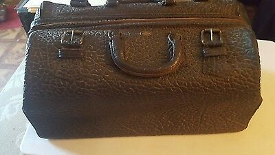 Antique/Vintage Textured Leather Doctor's Bag