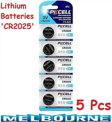 5 Pcs CR2025 CR 2025 3V Lithium Cell Watch Button Battery Batteries Long Life