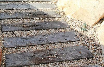 New Concrete Sleeper look Pavers stepping stones Path wood grain cement paver