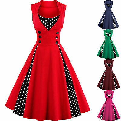 PLUS SIZE VINTAGE Polka Dot 50\'s ROCKABILLY Swing Pin Up ...