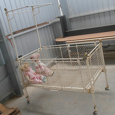 Vintage Wrought Iron Babys Cot