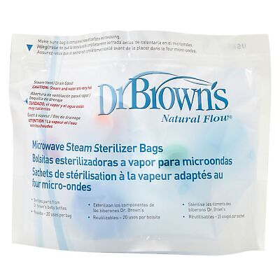 Dr Brown's Baby / Child / Kids Food / Feeding Microwave Steriliser Bags