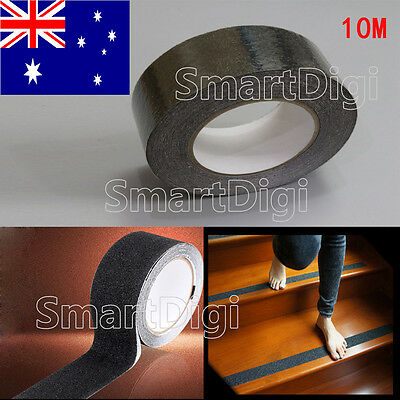 Black 50mm Anti Slip Tape Self Adhesive Non Skid Walk Safe for Stairs Bathroom