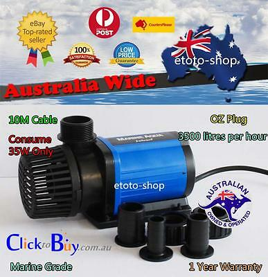 JEBAO AC 3500L/H Wet/Dry Slient ECO Pond Water Pump 35W Only - Energy Saving