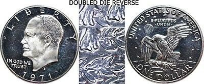 1971-S Eisenhower Proof Silver Dollar Doubled Die Reverse DDR Variety