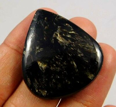 43.5Cts. Quality Fantastic African Golden Serphinite 35X30 Untreated Gemstone