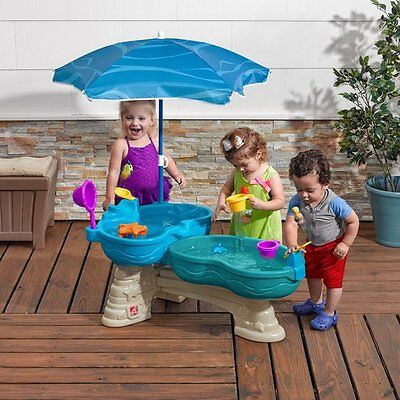 Step2 Spill & Splash Seaway Water Table Includes Umbrella for Shade