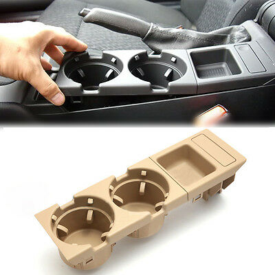1pc Beige Center Console Coin Tray Box+Cup Holder For BMW E46 3 Series 98-04