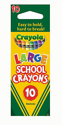 Crayola Large School Crayons-Pack of 10