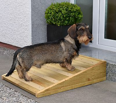 Handmade Outdoor Garden Pet Ramp for Your Dog or Cat Non-Slip and Sturdy