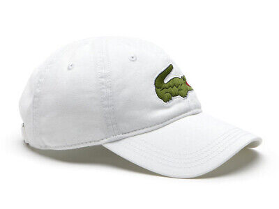 Lacoste Big Croc Cap - White