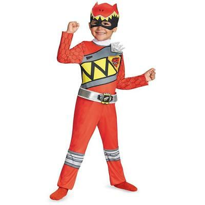 NEW Power Rangers Dino Charge: Red Ranger Classic size S 2T Costume Toddler Kids