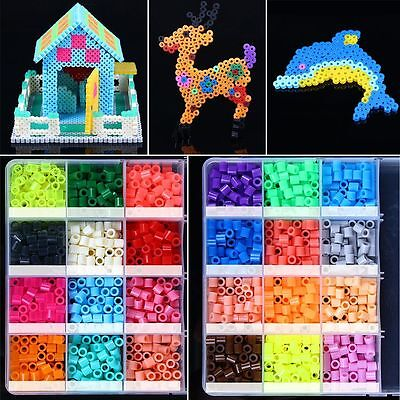 Free PP 5mm 500pcs HAMA/PERLER BEADS for Child Gift GREAT Kids Great Fun