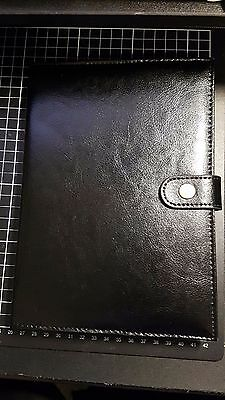 kikki.K BLACK A5 LEATHER NOTEBOOK! NEVER USED! FREE POST!!