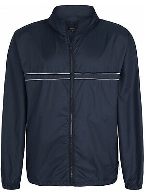 Sporte Leisure Edge Rain Jacket In Pocket - Navy/Chrome