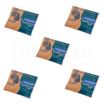 5Set Acoustic Guitar 6 strings.010-.047' Super Light for Yamaha Size Replacement