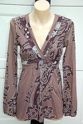 SWEET PEA by STACY FRATI Pretty Floral Maternity Top - Size M - EUC