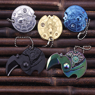 2018 Gift Mini Karambit Knife Neck claw Coin knife EDC Keyring Keychain Necklace