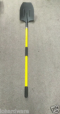 HALF ROUND MOUTH SHOVEL WITH LONG FIBREGLASS HANDLE-Brand New