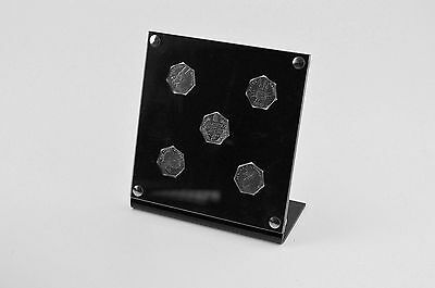 Coin Display Tray Holder - ideal for Beatrix Potter 50p coins - 5 holes Standing