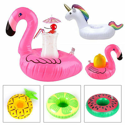4Pcs Inflatable Floating Swimming Pool Beach Drink Can Cup Beer Holder Boat Toy