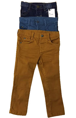 Boys HEMA Summer Cotton 3 Color Trousers Pants For Toddlers 2M- 5Y