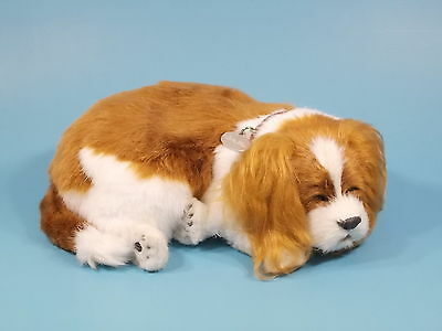 Perfect Petzzz Cavalier King Charles Lifelike Breathing Dog NEW FREE Shipping