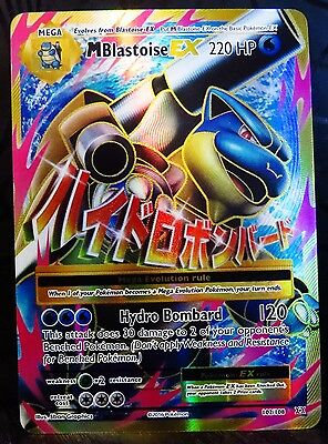 Pokemon MEGA BLASTOISE EX Full Art Evolutions 102/108 Holo Ultra Rare Mint