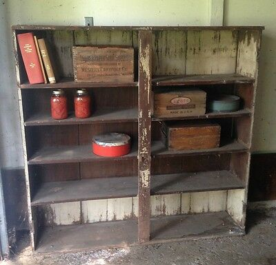 Antique primitive black walnut pantry / bookshelf / cupboard furniture