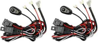 2PCS Premium Harness LED Driving Work Light Wiring Loom 12V 40A Switch Relay Kit