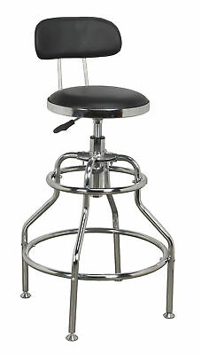Sealey SCR14 Workshop Stool Pneumatic with Adjustable Height Swivel Seat & Back