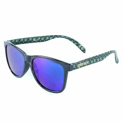 Glassy Sunhaters Deric Kronik Black Green Sunglasses Full UV New Free Delivery