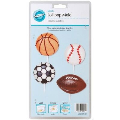 Wilton Candy Mold Sports Lollipop 9 Cavity W2115-4432; 6 Items/Order